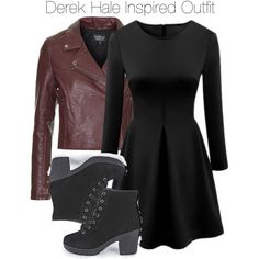Teen Wolf - Derek Hale Inspired Outfit by staystronng on Polyvore featuring Topshop, Boohoo, derekhale and tw