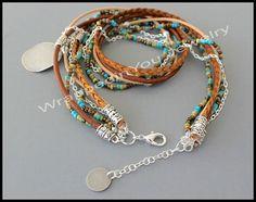 Boho LEATHER Wrap Bracelet Pick COLOR / SIZE door WrappedinYou