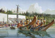 Potlatch Dancers  Alert Bay  by Gordon Miller kp