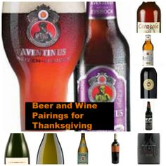 beer and wine pairings for thanksgiving