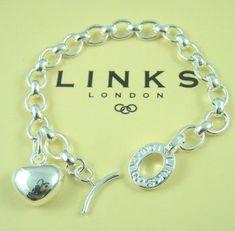 Links of London Heart charm bracelet #jewelryforsale