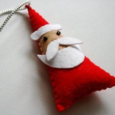 felt Santa santa #little dog with hat??