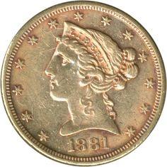 USA: 1881, 5 Dollar Liberty, Gold 7,52 g fein, ss    Anbieter  Schwanke GmbH    Saalauktion  Ausruf:  250.00EUR