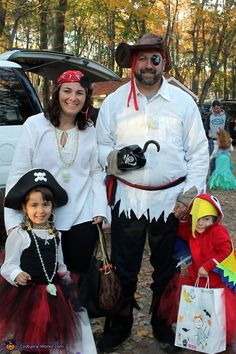 Stacy: Ahoy Mateys! Every year our family picks a themethis year was Pirates. Most of my inspiration came from Pinterest pins. All my costumes are always no sew and usually use...