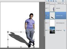 Adding Shadow using Adobe Photoshop Elements