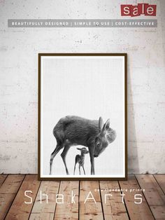 Deer Print Woodlands Nursery Decor Woodlands Baby Deer by ShakArts