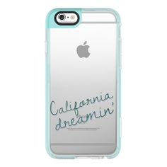 California Dreamin' - iPhone 6s Case,iPhone 6 Case,iPhone 6s Plus... (71 BAM) ❤ liked on Polyvore featuring accessories, tech accessories, iphone case, clear iphone cases, iphone cover case, iphone cases, apple iphone cases and iphone hard case