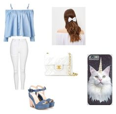 """Sem título #71"" by moonjunghee on Polyvore featuring moda, Topshop, Sandy Liang, Jimmy Choo, Chanel e New Look"