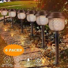 Solarleuchte Garten GolWof 6 Stücke Solarlampen für Außen LED Solar Gartenleuchte Solar Gartendeko Solarleuchten Wasserdicht IP44 Wegbeleuchtung