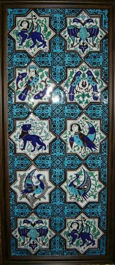 Turkish Tiles, Turkish Art, Islamic Tiles, Islamic Art, Art Chinois, Ottoman, Oriental, Antique Tiles, Art Japonais