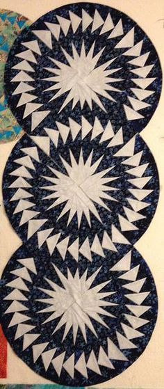 Seasonal Table Runner, Quiltworx.com, Made by CI Jennifer Eubank.