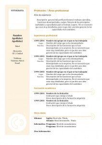 Currículum Vitae: Modelo Cronológico 3