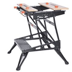 These sturdy, portable work supports add versatility and convenience in the workshop and on the jobsite. Portable Workbench, Folding Workbench, Best Portable Projector, Canadian Woodworking, Steel Frame Construction, Look Good Feel Good, Woodworking Magazine, Metal Crafts, Diy Tools