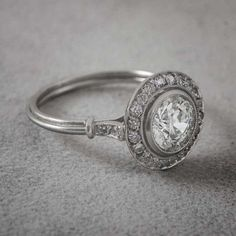 Vintage Engagement Ring. 1.13ct Old Euro Cut Diamond. Estate and Antique collection. Platinum with Old European Cut Diamond. #vintageengagementrings