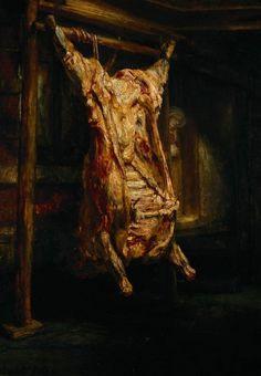 Rembrandt Harmenszoon van Rijn, Le bœuf écorché, 1655, huile sur toile, 350 x 500 cm, Musée du Louvre ©    Francis 中意既artist