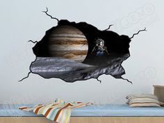 Space Planets Wall Decal  Kids Bedroom Vinyl Wall by WallJems, $39.99