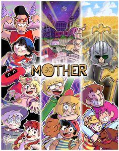 art n things! Mother Games, Yoshi, Mother Art, Anime Undertale, V Games, Otaku, Fandom, Cartoon Games, Video Game Art