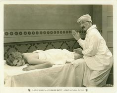 James Finlayson and Dorothy Mackaill in Ladies' Night in a Turkish Bath (1928)