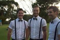 groomsmen short sleeved shirt bow tie - Google Search