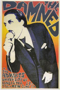 The Damned (+ The Adverts!!!) ( Classic Punk Poster / Concert Poster )