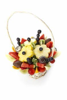 Fruit bouquet basket from @Fruity Bouquets R Us  www.FruityBouquets.co.uk