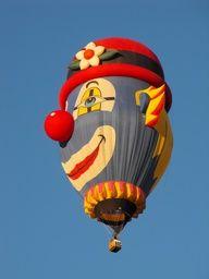 hot air balloon in shape of a teapot Clown Balloons, Helium Balloons, Air Ballon, Hot Air Balloon, Albuquerque Balloon Fiesta, Vintage Neon Signs, Send In The Clowns, Clown Faces, Balloon Rides