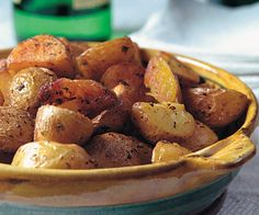 Crisp outside, creamy inside, roasted potatoes are the foolproof side dish—as long as you give them room in the pan