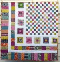 Bricks and Stones Quilt Pattern (pdf file) / Red Pepper Quilts Quilt Boarders, Quilt Blocks, Star Quilts, Quilting Projects, Quilting Designs, Quilting Ideas, Modern Quilting, Quilting Tutorials, Scrap Quilt