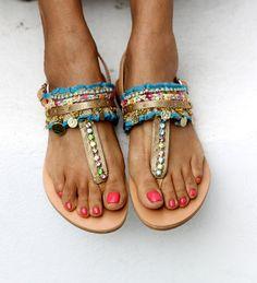 Sandales « Aladdin » (fait à la main à la commande)