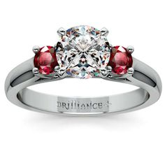 Ready for the big question? Let your love glitter in rich ruby hues and exquisite diamond sparkle with the beautiful Round Ruby Gemstone Ring in White Gold! http://www.brilliance.com/engagement-rings/round-ruby-gemstone-ring-white-gold