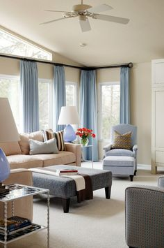 MEASUREMENT TIPS FOR DRAPES | 4.Drapery panels should have a combined width of 2-3 times the width of the window so if you have two panels framing a window, each panel should be 1 to 1½ times the window width.