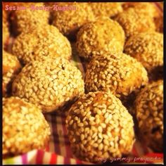 Sesam-Honig-Kugeln, sesame honey balls my yummy projects foodblog