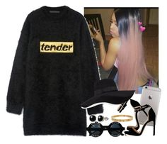 """""""Tender heart"""" by saucinonyou999 ❤ liked on Polyvore featuring Alexander Wang, San Diego Hat Co., Chanel, Belk & Co. and Cartier"""