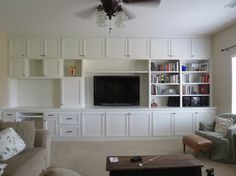 Before & After- Living room built-ins - Houzz......this would be perfect to do if we get the Stanton's house...