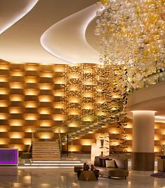 Stunning lobby at the JW Marriott Hotel Absheron Baku in Azerbaijan
