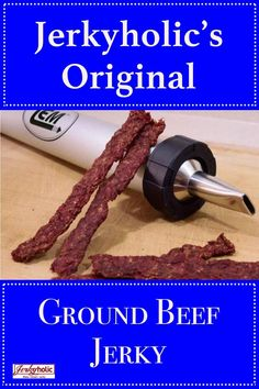 This original ground beef jerky recipe is rich and flavorful as well as easy and quick to make! No marinating required. Ground Beef Jerky Recipe, Homemade Beef Jerky, Hawaiian Beef Jerky Recipe, Traeger Jerky Recipe, Beef Jerky Sticks, Venison Jerky, Smoked Beef Jerky, Jerkey Recipes, Smoker Recipes