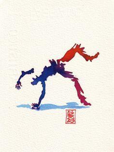 Encres : Capoeira – 357 [ #capoeira #watercolor #illustration]