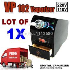 buy awesome 220V/110V vp102 digital hookah vaporizer electrical Vape cigarette smoking for Vapor used by home with glass whip Free ship #hookah #shisha #shop #best