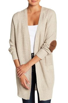 9279b2562f0c7 Image of RDI Faux Suede Elbow Patch Knit Cardigan Elbow Patches