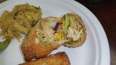 Crunchy Cajun Chicken Egg Rolls at duckinapot.com