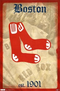 Red Sox -- Retro Logo Poster by estelle