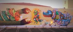 Street art: New Mural by Curiot and Nosego in Compton // Los Angeles | Art | Inspirational | Togetherness | Detail | Zentangle | Intricate | Collaboration | Streetartist Curiot