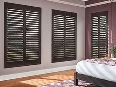 Standard Shutters With Curtains, Bay Window Design, Unique Window Treatments, Painting Shutters, Cafe Style, Unique Doors, Wood Interiors, Denver Colorado