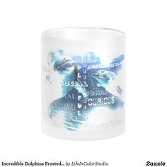 Incredible Dolphins 10oz Frosted Glass Mug