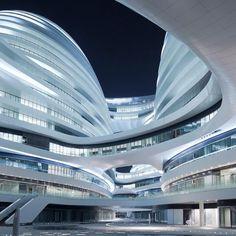 Zaha Hadid Galaxy Soho Location:China, Beijing #interior #design #interiordesign #art #architecture #modern #complex #معمارى #داخلى #طراحى #ديزاين #هنر #مدرن #مجتمع