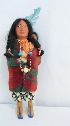 Beautiful colors on this female Skookum doll.  I like the contrasts. Ebay
