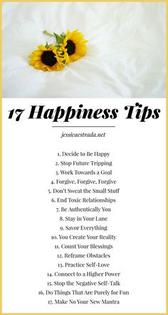 17 Happiness Tips | Learn how to be happy with my 17 tips for cultivating more joy and happiness in your everyday life. Plus, download my FREE 30-Day Happiness Challenge ebook!