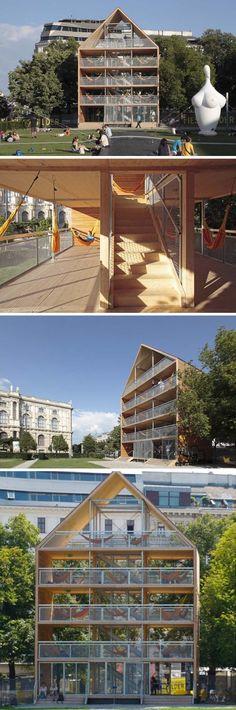House of Hammocks, Hammock House, Vienna, Flederhaus, Heri & Salli Architects