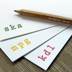 custom letterpress monogram notecards set of by shortgrassdesigns