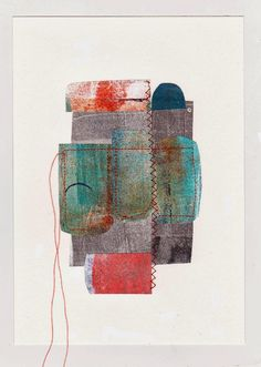 Dudley Redhead: Gelli plate printing post no.8